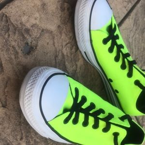 unisex neon green converse